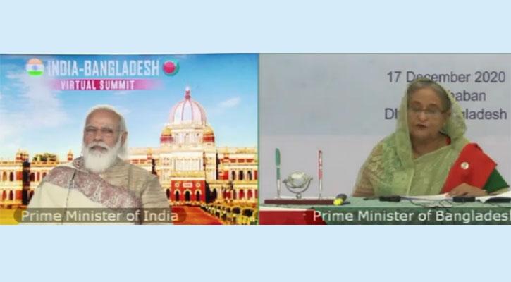 বাংলাদেশ-ভারত পারস্পরিক নির্ভরতায় সন্তুষ্ট প্রধানমন্ত্রীশেখ হাসিনা