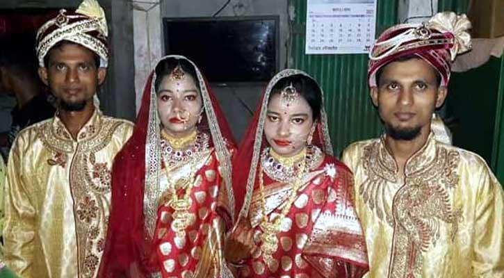 টাঙ্গাইলে জমজ ভাইয়ের সঙ্গে জমজ বোনের বিয়ে